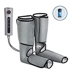 Naipo Leg Massager Cordless Air Compression Massage for Calves and Feet Leg Wraps with Built-in Rechargeable Battery Handheld Controller for Fatigue and Stress Relief - 3 Intensity Levels 2 Modes