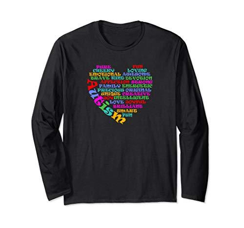 - Autism Heart Shape Shirt   Womens Mens Kids Long Sleeve T-Shirt