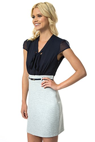 Bow Front Sheath Dress (Teeze Me Juniors Cap Sleeve Front Bow Belted Dress)