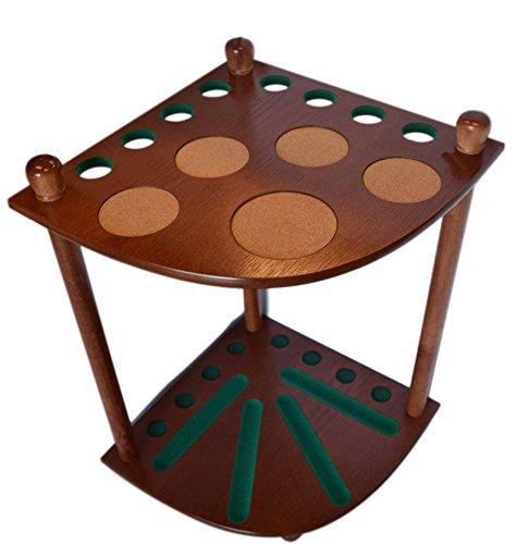 [8 Pool Cue Rack - Billiard Cue Stick - Deluxe Floor Corner Cue Rack - Hold 8 Pool Cues] (Billiards Corner)