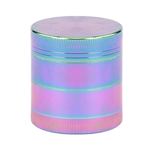 Bluelans-Colourful-4-Pieces-Metal-Zinc-alloy-Tobacco-Grinder-Spice-Grinder-Herb-Grinder-Rainbow-Metal-40mm15inch