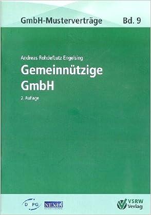 Gemeinnützige Gmbh Mit Mustervertrag Zum Download Amazonde