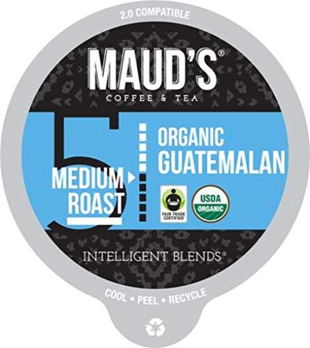 Maud's Organic Guatemalan Coffee (Medium Roast), 24ct. Recyclable Single Serve Fair-Trade Organic Single Origin Coffee Pods