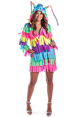 Tipsy Elves Funny Women's Adult Pinata Costume Dress - Pinata Halloween Costume Outfit: Small]()