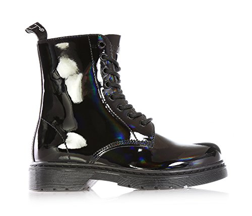 CULT - Black waterproof lace-up boot, made of paint,child,girl,girls,woman