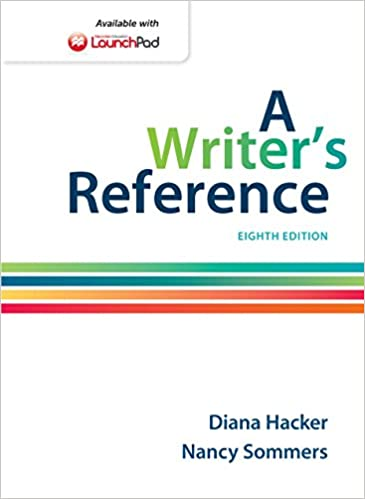 A Writers Reference With 2016 MLA Update