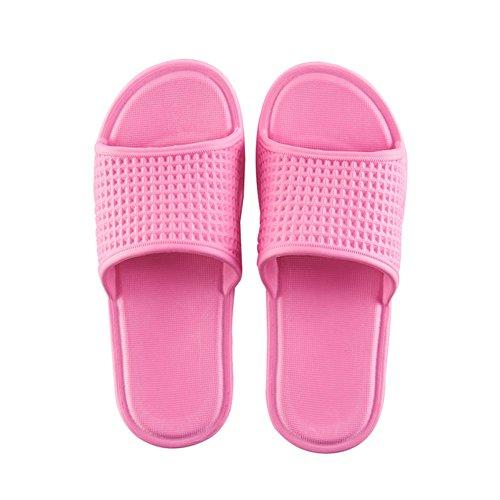 TELLW Bathroom Slippers for Male Female Summer Home Indoor Anti-Slip Thick Bottom Cool Slippers Women Rose mZ4IzU