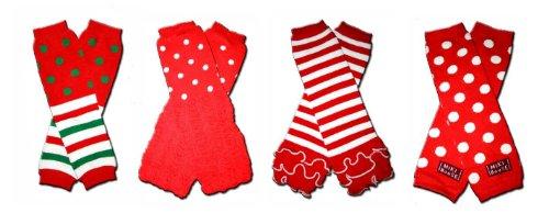 Amazon.com: 4 CHRISTMAS LEGGINGS/RUFFLES - Baby Leggings/Leggies ...