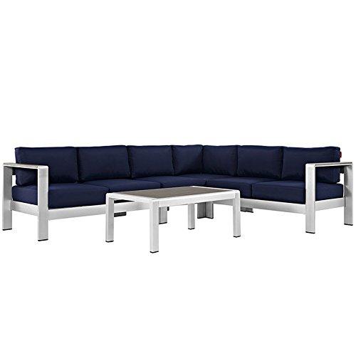 Amazon.com: Juego de sofá modular de aluminio Modway ...
