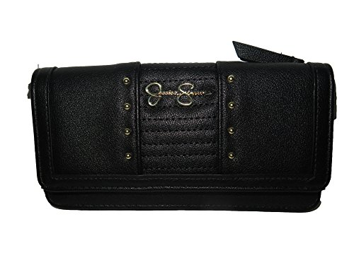 Jessica Simpson TILLY Black Leather Full Size Wallet JS14010