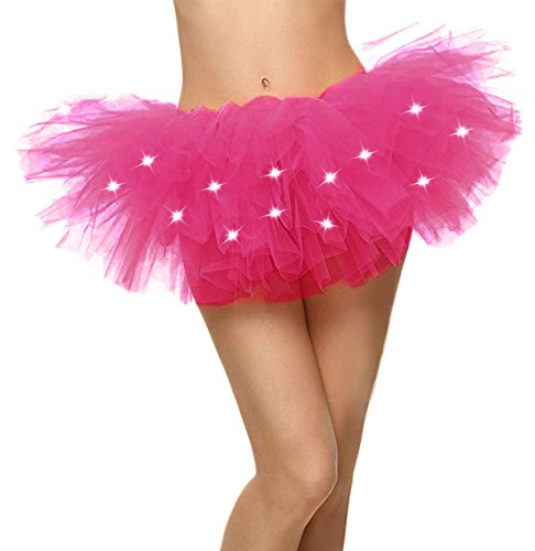 Light up Tutu LED Light Up Running Costume Glow Night 5K Run Tutu Skirt, -