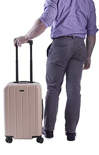 "CHESTER Minima Carry-On Luggage / 22"" Lightweight Polycarbonate Hardshell/Spinner Suitcase/TSA Approved Cabin Size (Sand)"