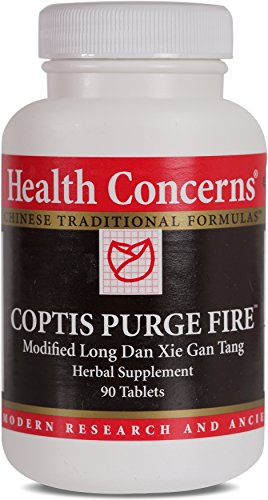 Health Concerns – Coptis Purge Fire – Modified Long Dan Xie Gan Tang Herbal Supplement – 90 Tablets