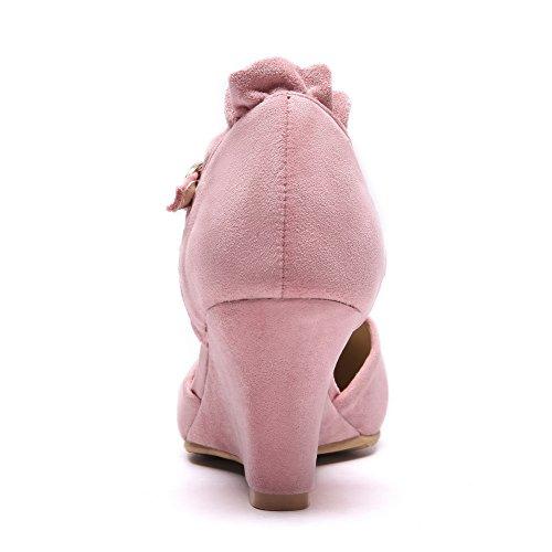 Rose Rose Femme 36 ASL05507 Sandales Compensées 5 BalaMasa IwqAZXn