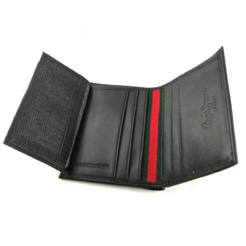 European Jeans' European wallet leather 'Pepe black leather 0HzqdwU0