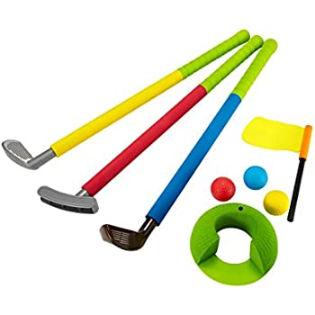 Amazon.com: Little Tikes TotSports Easy Hit Golf Set + 3 balls + 2 clubs: Toys & Games