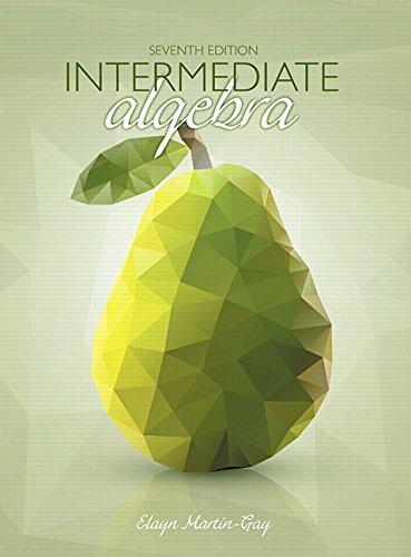 Intermediate Algebra (7th Edition) cover