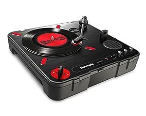 Numark PT01 Scratch - Plato Giradiscos de DJ, para Portabilistas con Mando Scratch Switch Cambiable, Altavoz Integrado, Alimentación por Pilas o ...