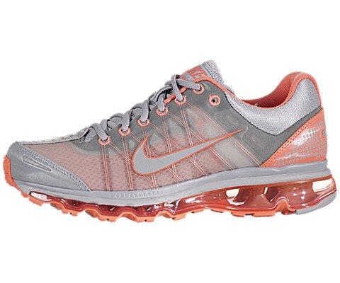 Nike Womens Air Max 2009 Wolf Grey Melon Crush Women Running (7.5)
