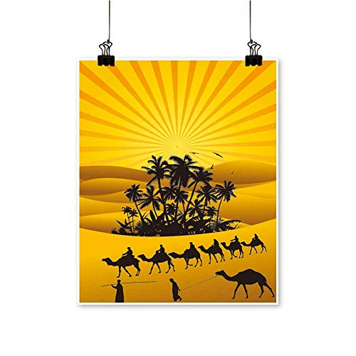 (Art Picture Colorful Canvas Print Sahara Lifestyle Camel s Paintings for Living Room,24