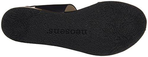 Neosens S504 Restored Skin Ebony Cortese, Sandali T-Strap Donna Nero (Ebony)