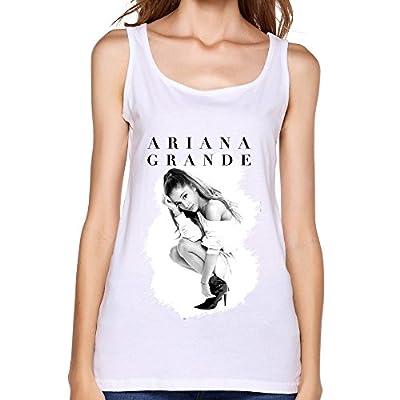 Anskan Women's Ariana Grande Art Tank Top White