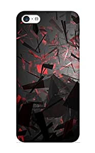 Defender Case With Nice Appearance (abstract Dark Red Abstract Art) For Iphone 5c / Gift For New Year's Day