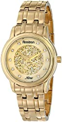 Armitron Women's 75/5159CMGP Swarovski Crystal Accented Gold-Tone Bracelet Watch