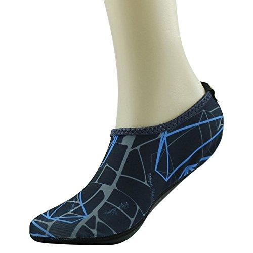 Shoes Surf Yoga Water Snorkeling Navy Neoprene Swim Printed Skin Blue for Pool Barefoot Beach Aqua Socks Home Slipper 4wS7gxqnOI