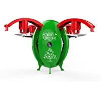 Foldable Christmas Egg Drone Makalon 0.3MP Camera WIFI FPV RC Quadcopter HD Selfie 2.4G (Green)