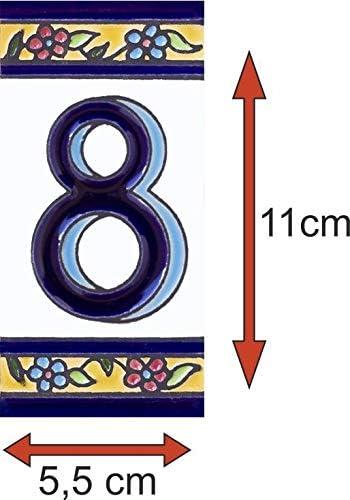 Numeros y letras para casa 5,5 x 11 cm pintado a mano Letra S