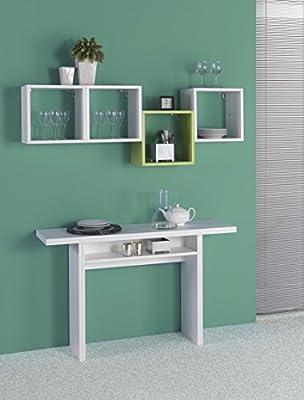 Extend - EL530 - Mesa consola desmontable,120 x 35/70 x 75 cm ...
