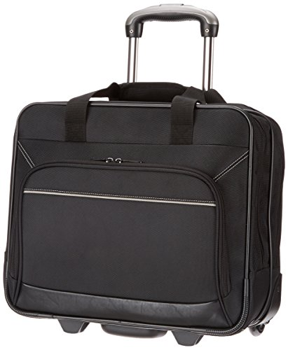 Carrying Case Briefcase - AmazonBasics Rolling Bag Laptop Computer Case with Wheels