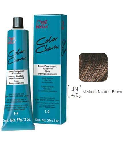 Wella Color Charm (Wella Medium Natural Brown Demi Permanent Hair Color 4N-4/0 Medium Natural Brown)