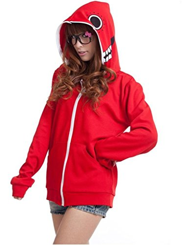 Cos-me Vocaloid Gumi Russian Matryoshka Jacket Hoodie Coat Cosplay Costune Red S