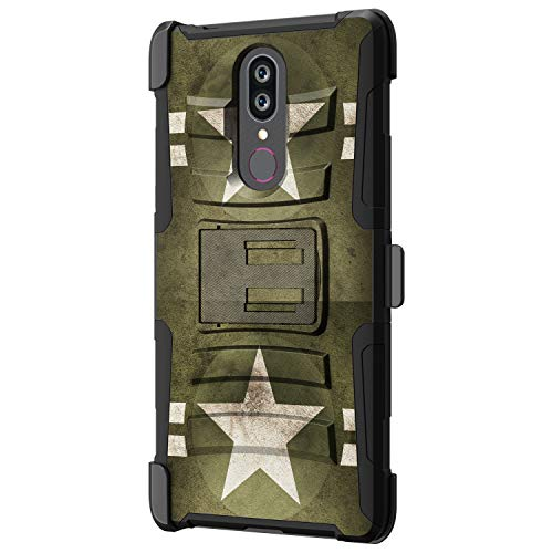 TurtleArmor   Compatible for Coolpad Alchemy Case   Coolpad Legacy Case [Hyper Shock] Rugged Hybrid Shell Kickstand Case Holster Belt Clip Robot Military War Army - Military Stars (Mobile Boost Htc Phone Cases For)
