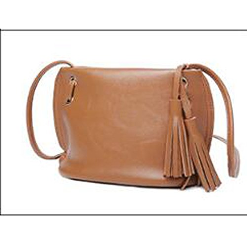 Lady Fashion Tassels Lightweight Bolso Crossbody Bolsa Satchel Para Las Mujeres Multicolor Brown1
