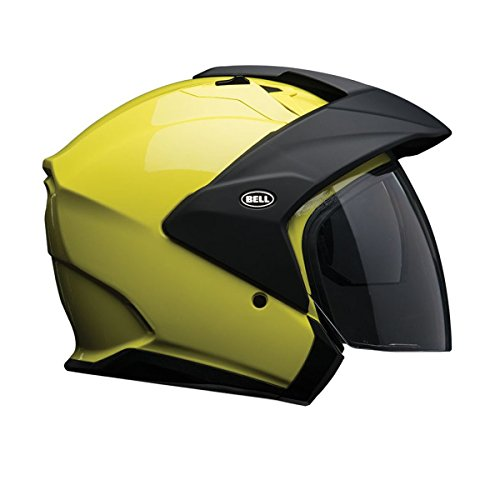 Bell Mag-9 Unisex-Adult Open face Street Helmet (Solid Hi-Viz, Medium) - Face Bell Open Helmets