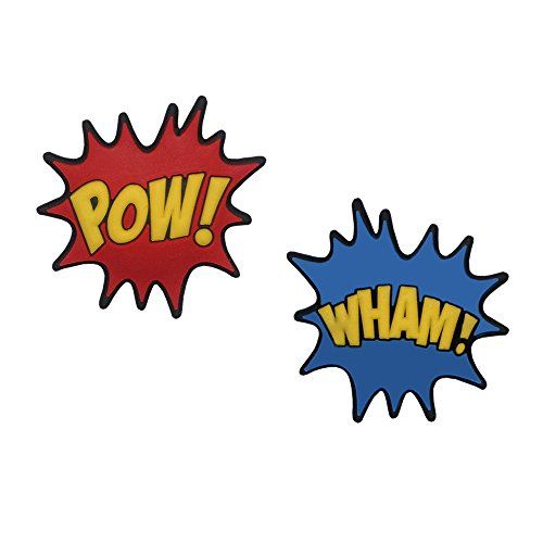 Comic Book Themed Pow and Wham Tennis Racquet Dampeners by Racket Expressions