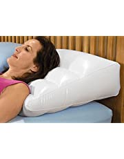 Inflatable Pillow Graduated High , Wedge , Vinyl - Color White , Amazing for Head , Legs , Back Fast Relief