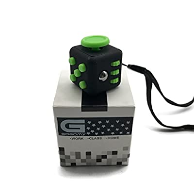 Gogomy - The fidget cube toy - Mini cube with key ring hole for Anxiety Stress Relief Attention Focus
