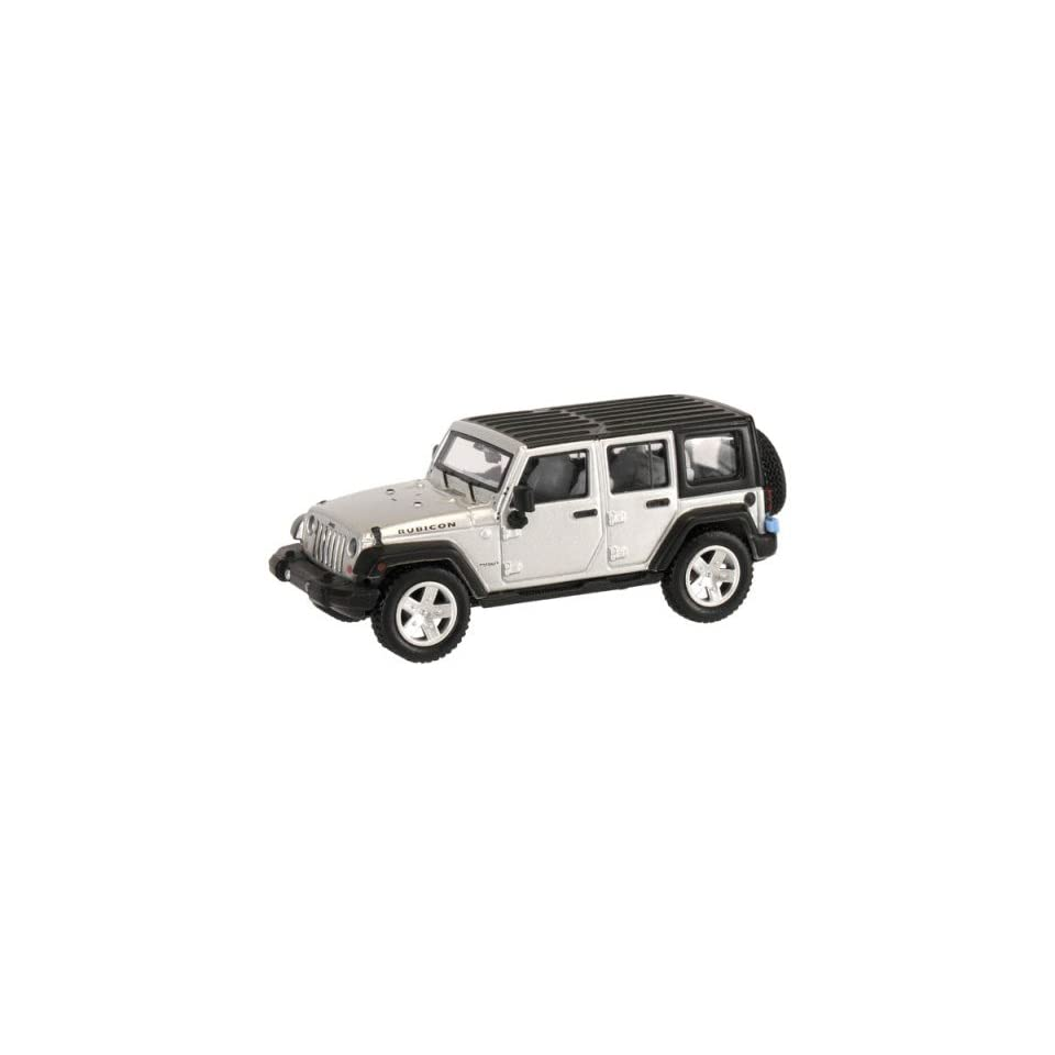 HO 2007 Jeep Wrangler 4 Door Unlimited (Silver) Atlas Trains