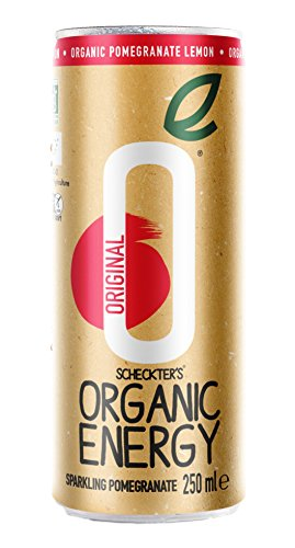 Scheckter's Organic Energy Drink, Original Pomegranate, 8.4  Fl. Oz (Pack of 12)