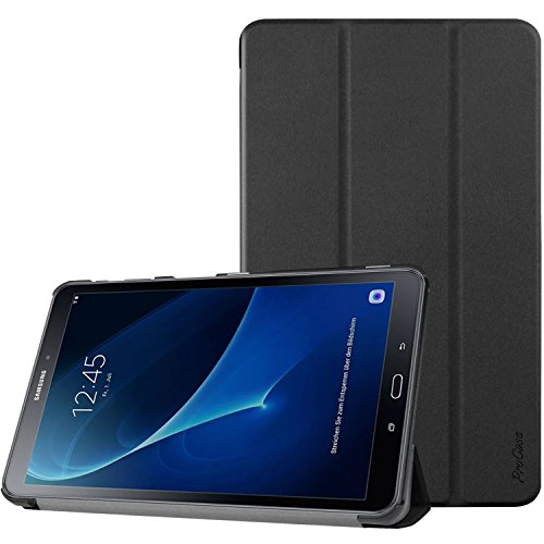 ProCase Folio Case Compatible for 2016 Galaxy Tab A 10.1 with S Pen (SM-P580), Slim Smart Cover Stand Case for Galaxy Tab A 10.1 Inch Tablet S Pen P580 2016 -Black