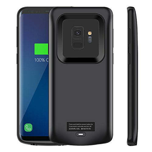 Galaxy S9 Battery Case, Modernway 4700mAh Slim Portable Extend Battery Pack Charger Case, Rechargeable Charging Case for Samsung Galaxy S9(Black)