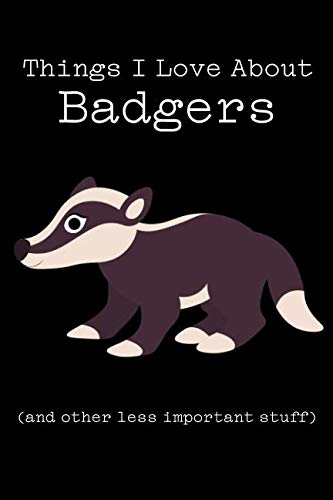 Things I Love About Badgers (and other less important stuff): Blank Lined Journal