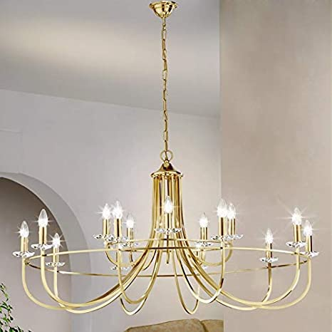 Lámpara de araña Imperial Inglés latón Kolarz hecho a mano ...
