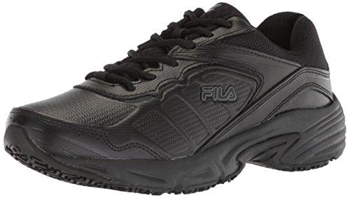Fila Women's Runtronic Slip Resistant Running Shoe Food Service, Black, 10 B US