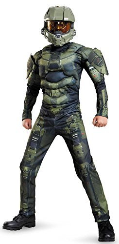 [Disguise Master Chief Classic Muscle Costume, Small (4-6)] (Cool Costumes For Boys)
