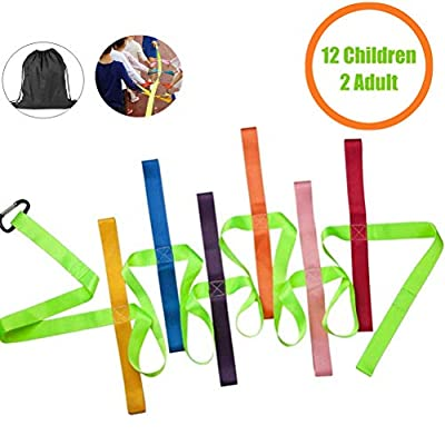Safety Walking Rope,DOCA Colorful Toddler Walking Rope with Buckle for Preschool Daycare School Kids - 12 Loops
